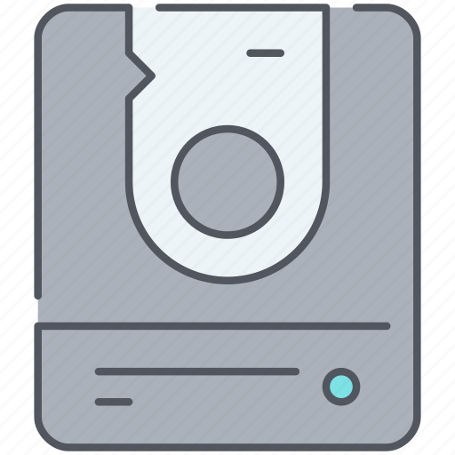 data, database, devices, disk, hard, hdd, technology icon