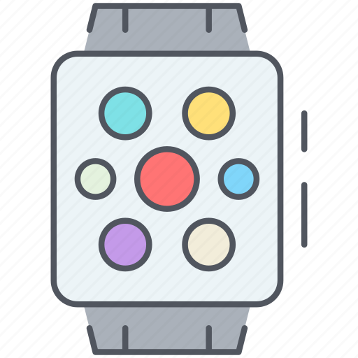 apple, device, electronics, iwatch, technology, time, watch icon