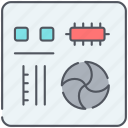 component, computer, device, electronics, motherboard, technology icon