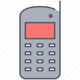 device, electronics, mobile, old, phone, technology icon