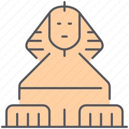 ancient, egypt, egyptian, historical, landmark, monument, sphinx icon