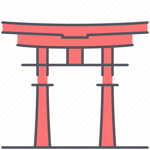 china, historical, itsukushima, landmark, monument, shrine, spiritual icon