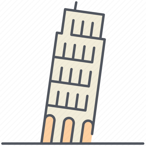historical, italy, landmark, leaning tower, monument, pisa, structure icon