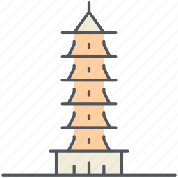 buddhism, china, historical, landmark, monument, suzhou tower, temple icon