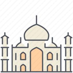 historical, india, monument, new delhi, religion, taj mahal, temple icon