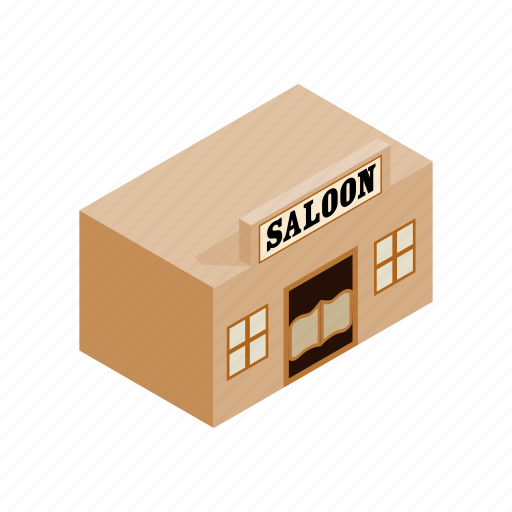 cowboy, isometric, saloon, west, western, wild, wooden icon