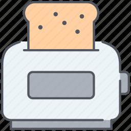appliance, bake, bread, kitchen, sandwich, toast, toaster icon