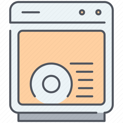 appliance, dish, dishes, dishwasher, kitchen, wash icon