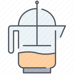 drink, french, french press, hot, kitchen, press, tea icon