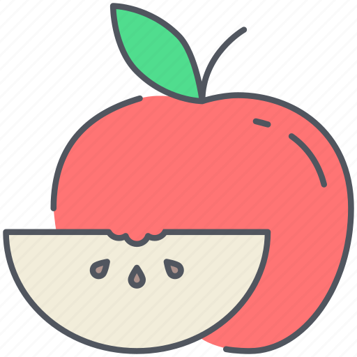 apple, food, fruit, healthy, kitchen, organic, vegan icon