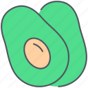avocado, food, fruit, healthy, organic, tropical, vegan icon