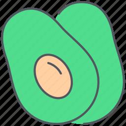 avocado, food, fruit, healthy, organic, tropical, vegan icon