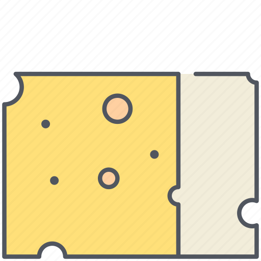 cheese, dairy, diary, food, kitchen, meal, yellow cheese icon