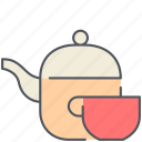 cup, drink, food, healthy, kitchen, tea, teapot icon