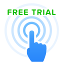 click, free, pointer, trial icon
