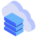 cloud, server, web icon