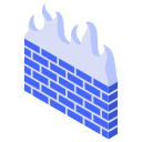 firewall, fire, wall icon