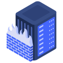fire, firewall, server, wall, web icon