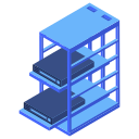 mount, rack, server icon