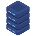 server, servers, stacked icon