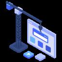 builder, building site, construction, crane, site, under, website icon