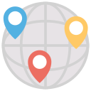 cdn, globe, locations icon