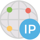 address, dedicated, globe, ip icon
