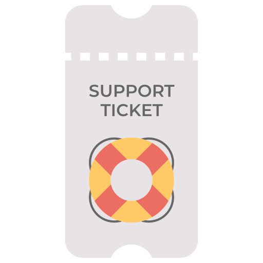 support, ticket icon