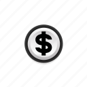 $, cash, coin, currency, dollar, navigation, on icon
