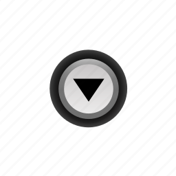 arrow, buttons, down, navigation, off, pushbutton, ui icon