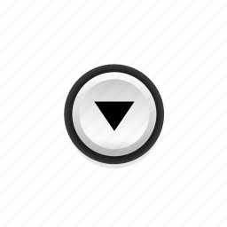 arrow, buttons, down, navigation, on, pushbutton, ui icon