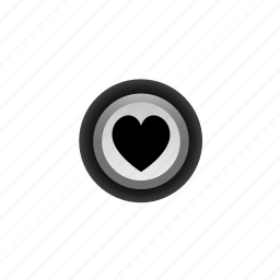 buttons, heart, life, like, love, navigation, off icon