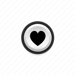 buttons, heart, life, like, love, navigation, on icon
