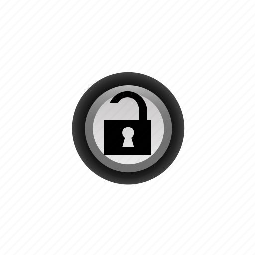 buttons, navigation, off, open, padlock, pushbutton, ui icon