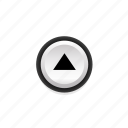 arrow, buttons, navigation, on, pushbutton, ui, up icon
