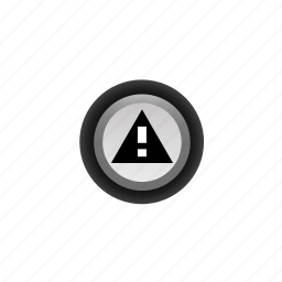 !, attention, look-out, navigation, note, off, warning icon
