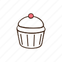 bakery, cooking, cupcake, dessert, food, pastry icon