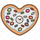 cookie, frost, pastrie, sugar, topping, white icon