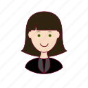 .svg, advogada, emprego, job, lawyer, mulher, professions, trabalho, white woman with black hair professions, work icon