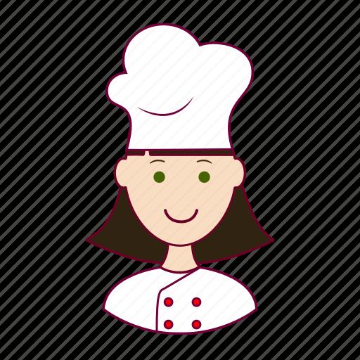 Chef, chefe de cozinha, emprego, job, mulher, professions, trabalho icon - Download on Iconfinder