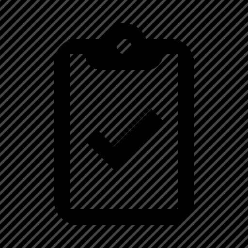 check, checklist, clear, clipboard, done icon