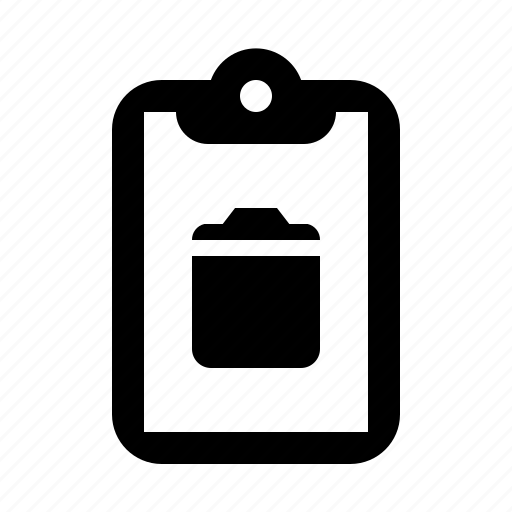 clipboard, delete, remove, trash icon