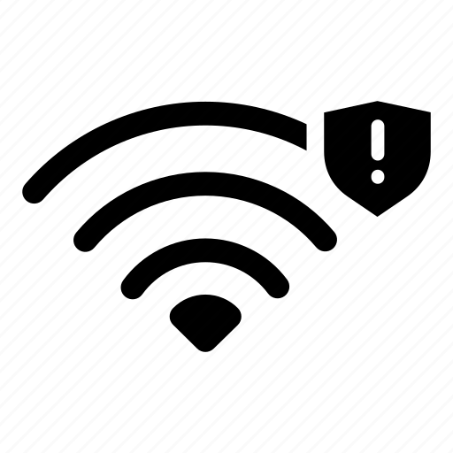 connection, internet, network, secure wifi, shield, wifi, wireless icon
