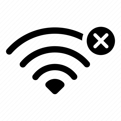 connection, disconnect, internet, offline, password, wifi error, wireless icon