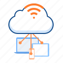 cloud, cloudy, wifi, wireless icon