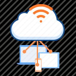 cloud, cloudy, wifi, wireless icon