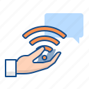 personal, service, support, wifi icon