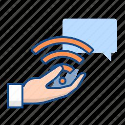 personal, service, support, wifi icon