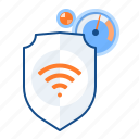 monitoring, protection, signal, wifi icon