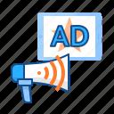 advertising, signal, wifi, wireless icon
